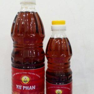 Mắm loại 3 chai nhựa lớn 45k/chai 1l, nhỏ 15k/chai nữa lít