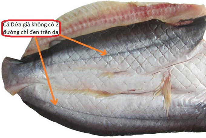 Khô cá dứa 1 nắng thật là có dọc đen ở sống lưng